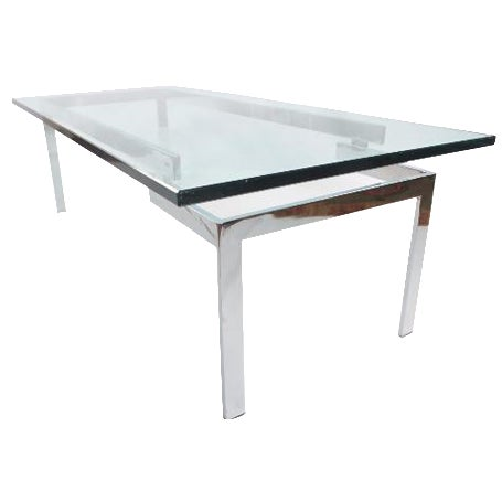 Glass & Chrome Staggered Base Coffee Table - Image 1 of 6