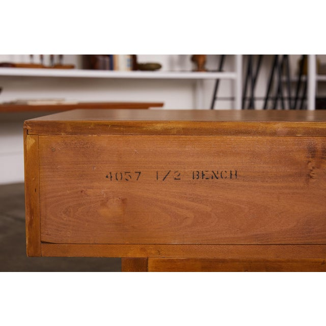 Single Bench With Storage by John Keal for Brown Saltman For Sale - Image 11 of 12