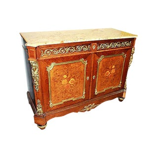 19th-C. French Marquetry Buffet For Sale