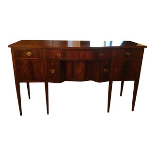 20th Century Williams-Kimp Mahogany 6-Leg Sideboard/Buffet For Sale