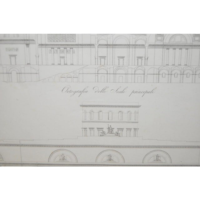 Illustration 19th Century Architectural Engraving For Sale - Image 3 of 5