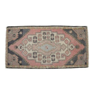 """Front of Kitchen Sink Rug Hand Made Bath Mat Faded Mini Rugs 1'9"""" X 3'4"""" For Sale"""
