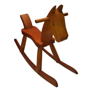 1950s Vintage Kay Bojesen Danish Rocking Horse For Sale