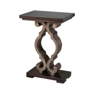 Spanish Ebony-Stained Accent Table For Sale