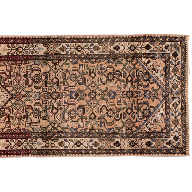 """1960s Vintage Persian Rug, 2'8"""" X 9'7"""" For Sale - Image 5 of 10"""