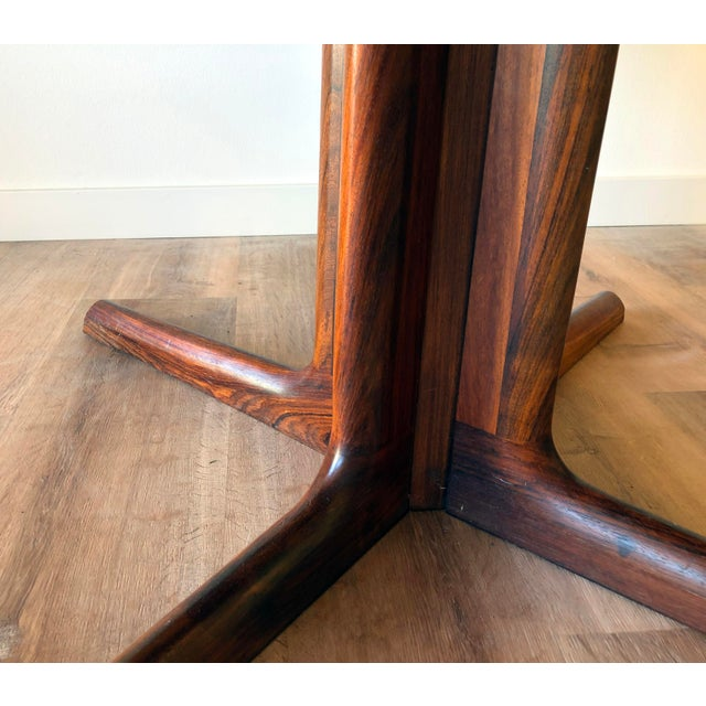 Gudme Mobelfabric Danish MCM Rosewood Dining Table With 2 Leaves For Sale - Image 12 of 13