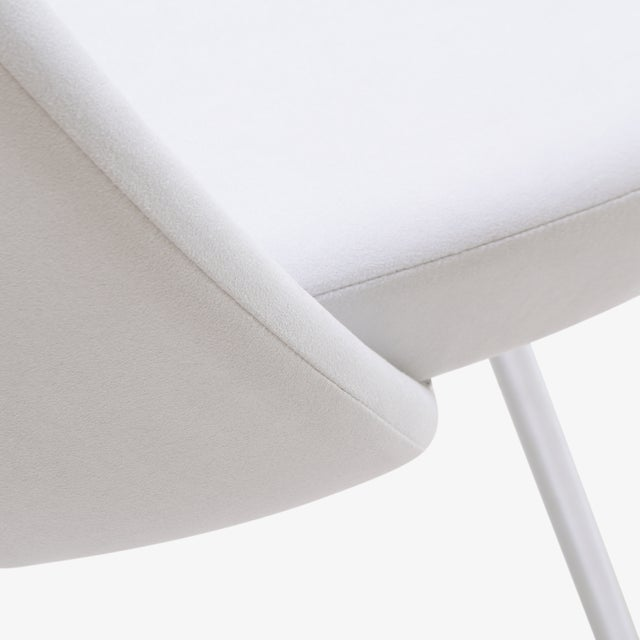 Saarinen Executive Armless Chairs in Dove Luxe Suede, Set of 6 - Image 8 of 8