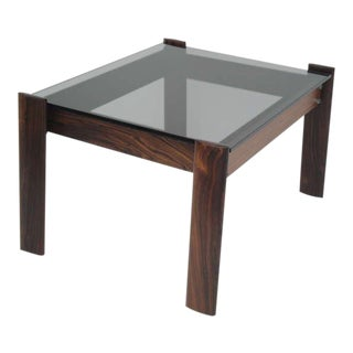 Percival Lafer Brazilian Rosewood Side Table For Sale