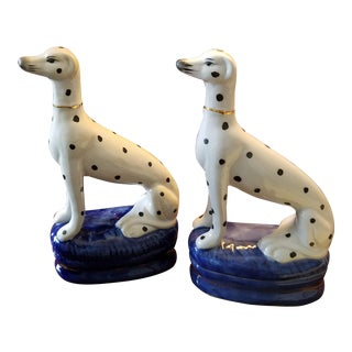 Porcelain Dalmatian Figurines / Bookends - a Pair