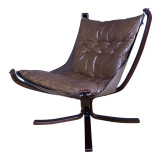 "1970s Vintage Sigurd Ressell Low Back ""Falcon"" Chair For Sale"