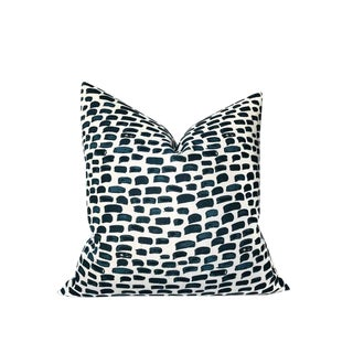 Clay McLaurin Brush Pillow Cover in Blue For Sale