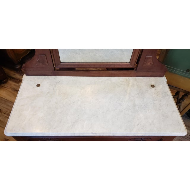 Late 19th Century 19th Century Antique Eastlake Style Dresser With Mirror and Hidden Drawer For Sale - Image 5 of 12