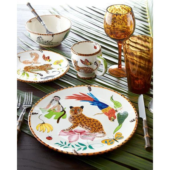 We are very pleased to offer a colorful dinnerware collection by Lynn Chase, circa the 2000s. A self-taught painter and...