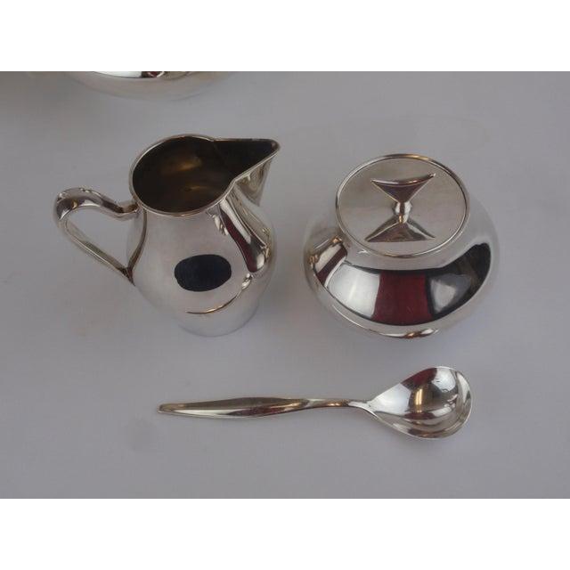John Prip for Reed & Barton Denmark Modernist Coffee Tea Set - Image 9 of 10