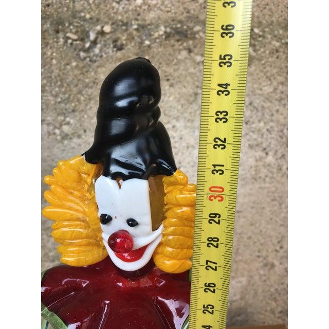 """Murano Art Glass Clown Sculpture, """"Pagliaccio"""" For Sale - Image 11 of 12"""