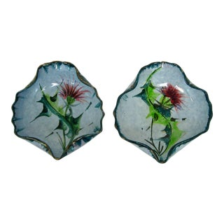 Decorative Italian Ceramic Bowls, a Pair For Sale