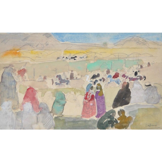 Impressionism 1920s Charles-George Dufresne Original Watercolor For Sale - Image 3 of 5