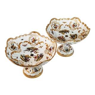 Meissen Porcelain Augustus Rex Compotes - a Pair For Sale