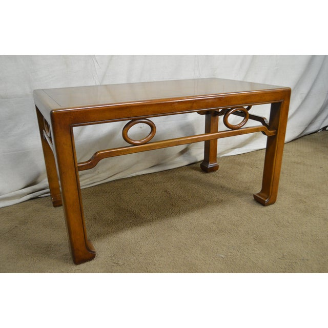 *STORE ITEM #: 17799-ax Mid-Century Modern James Mont Style Asian Influenced Side Table AGE / ORIGIN: Approx. 50 years,...