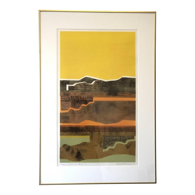 Eric Bellman Mixed Media Abstract of Southwest For Sale