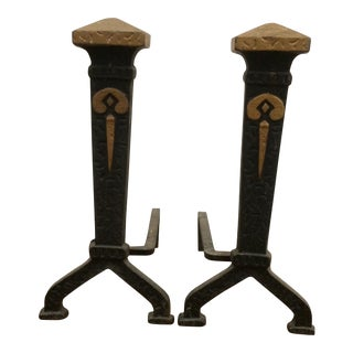 Andirons Vintage Iron - A Pair