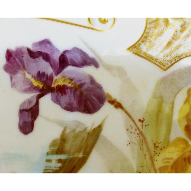 Ceramic 1900 J. Etienne Hand-Painted Limoges Porcelain Fish Platter For Sale - Image 7 of 11