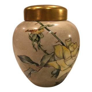 1880 L. Cooley, China Decorative Works Ginger Jar For Sale