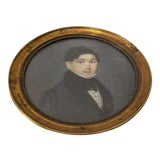 Image of 19th Century Miniature Portrait of a Handsome Young Man For Sale