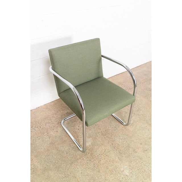 Mies Van Der Rohe Green Brno Chairs For Sale - Image 10 of 11
