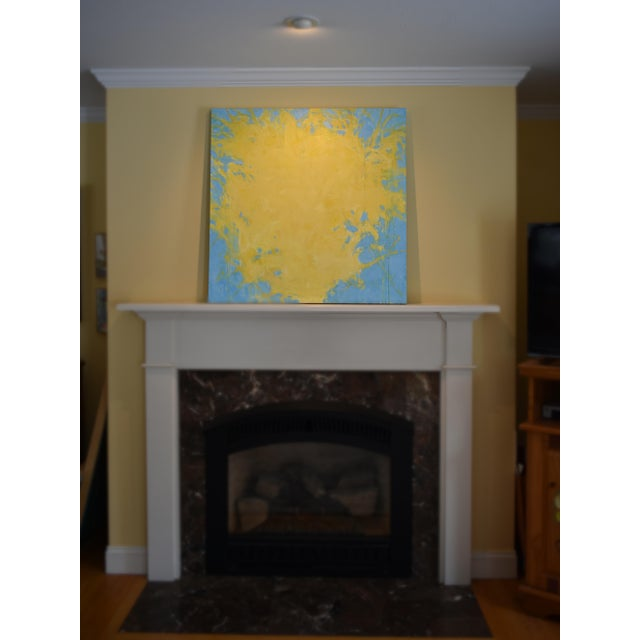 """Forsythia"" Abstract Painting - Image 3 of 9"