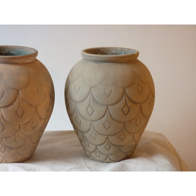 Mid 20th Century Mid-Century Ceramic Garden Urns - A Pair For Sale - Image 5 of 5
