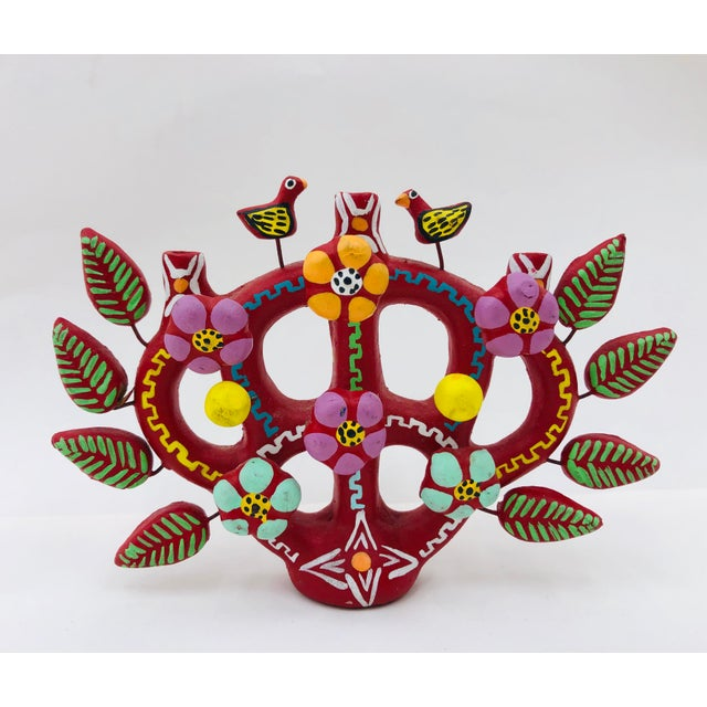 Boho Chic Hand Crafted Mexican Tree of Life Candelabra For Sale - Image 3 of 8