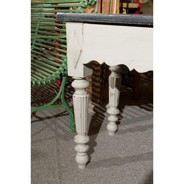 French Painted Wood Butcher Table - Image 5 of 7