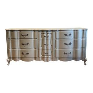 Gold Chrome Matte Metallic Triple Dresser
