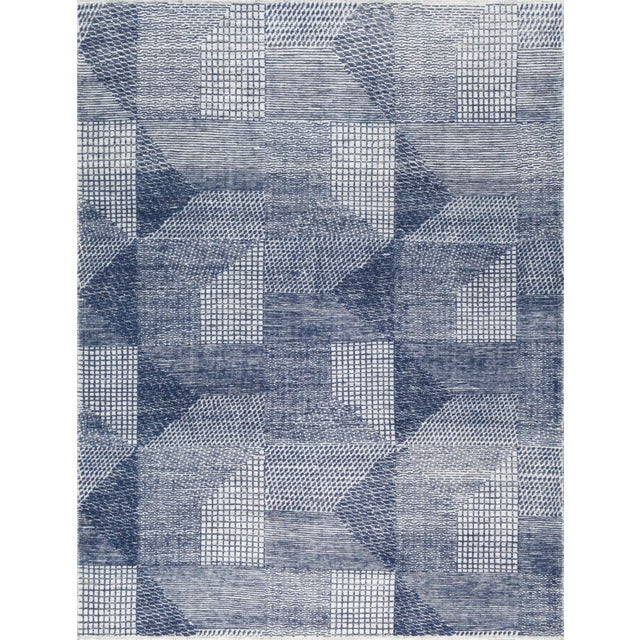 """Not Yet Made - Made To Order Stark Studio Rugs Weller Rug in Navy, 10'0"""" x 14'0"""" For Sale - Image 5 of 5"""