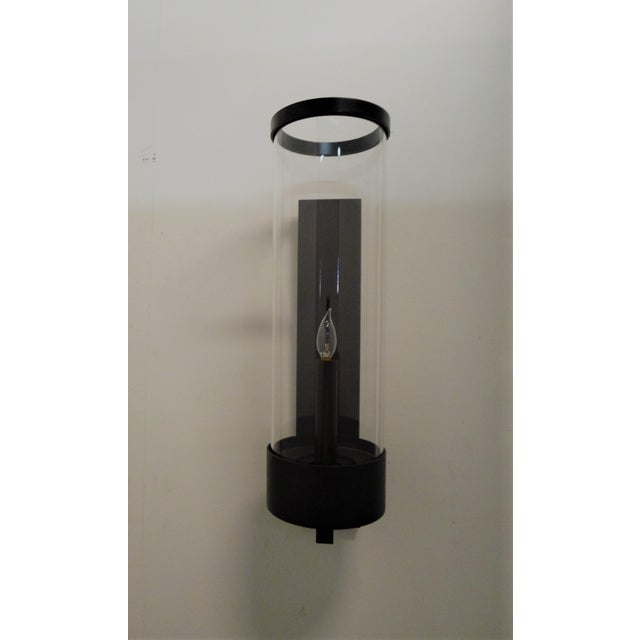 Contemporary Hurricane Sconces by Paul Marra. We have two remaining close-out stock, no additional are available. Sold and...