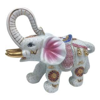 Vintage Ceramic Colorful Elephant For Sale