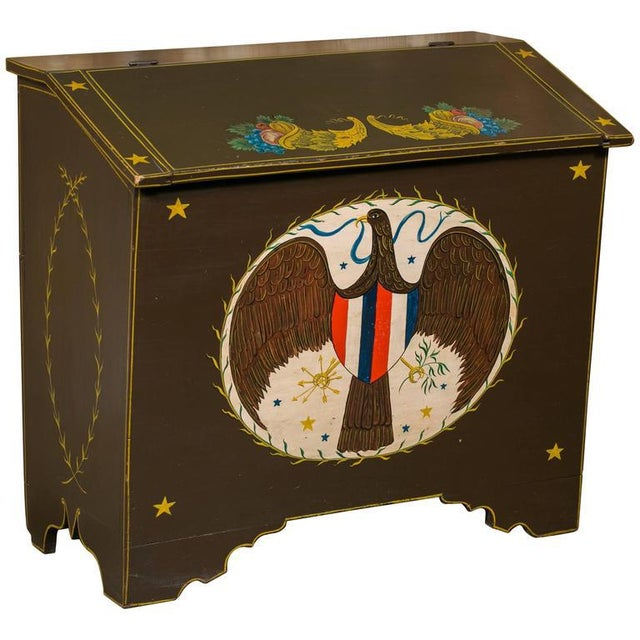 Americana Blanket Chest, circa 1900, Hand-Painted by American Folk Artist Lew Hudnall For Sale In Houston - Image 6 of 6