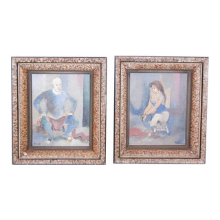 Contemporary Framed Paintings - A Pair