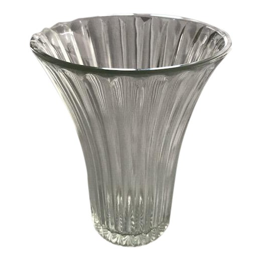Anchor Hocking Fluted Glass Vase For Sale