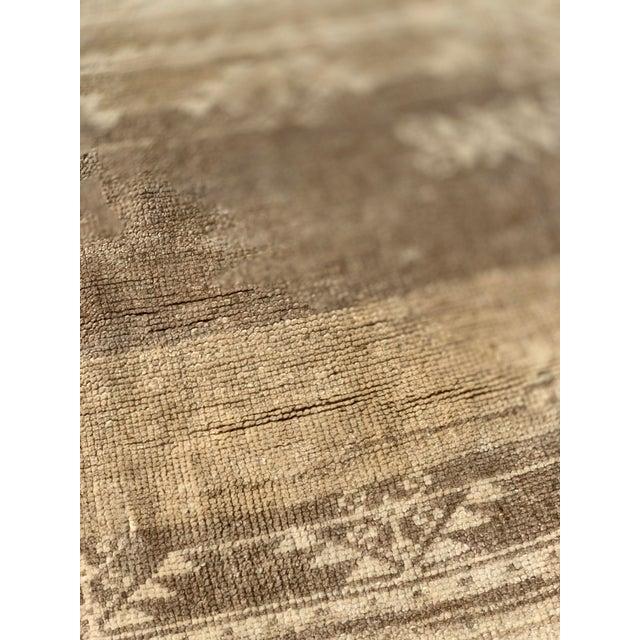 """Textile 1950's Vintage Turkish Oushak Runner Rug - 3'1""""x9'4"""" For Sale - Image 7 of 13"""