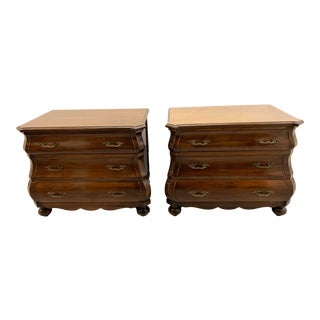 Vintage Bombay Three Drawer Side Tables - a Pair For Sale