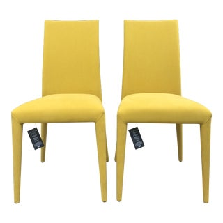 Mustard Yellow Anais Chairs by Calligaris - a Pair For Sale