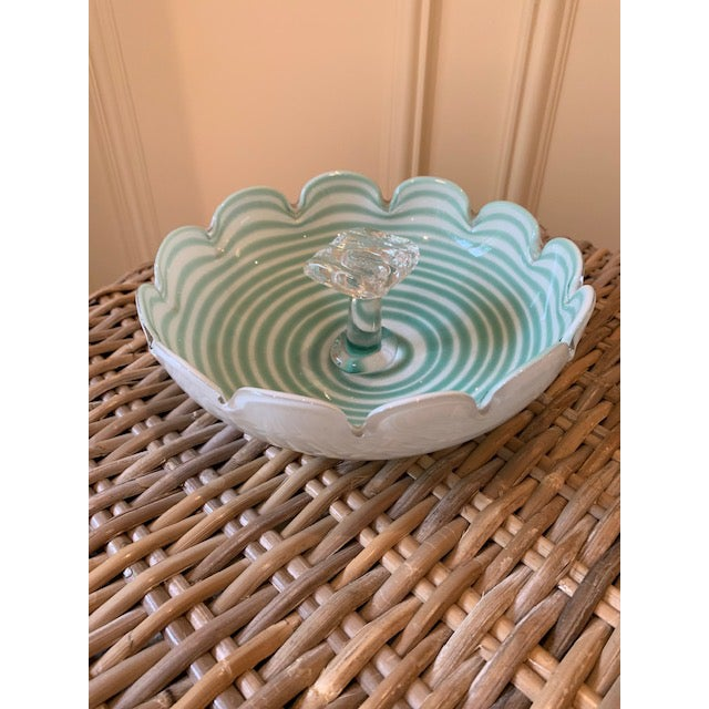 Glass Fratelli Toso Murano Candy Dish For Sale - Image 7 of 7