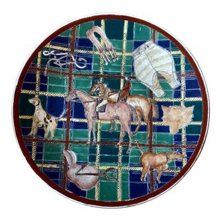 Vintage Equestrian Fox Hunt Plate For Sale