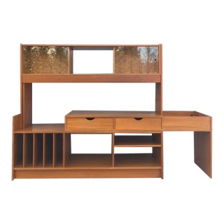 1960s Scandinavian Modern Vemb Mobelfabrik Danish Wall Unit For Sale