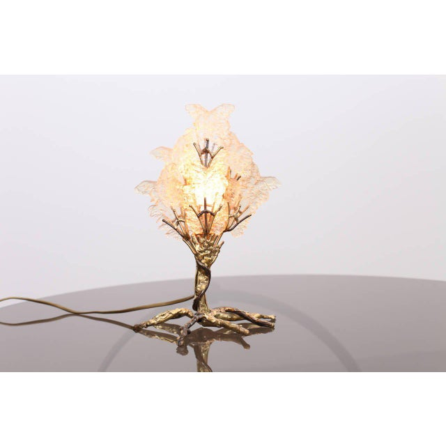 Beautiful Unique Brass Tree Table Lamp by Henri Fernandez For Sale - Image 9 of 9