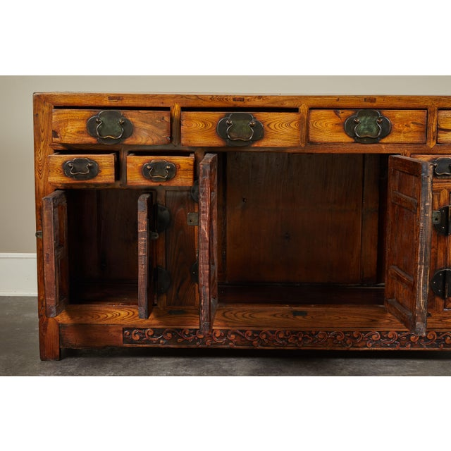 Early 19th Century Rare 19th Century Chinese Elm Sideboard For Sale - Image 5 of 10