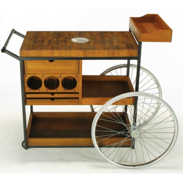 Bill W. Sanders Mid-Century Rolling Bar Cart - Image 2 of 10