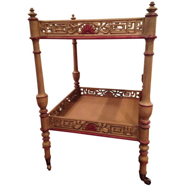 Widdicomb Chinese Chippendale Tea Table - Image 1 of 4